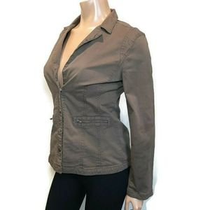 SOYACONCEPT Fitted Military Jacket Snap Button